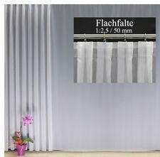 Organza Dekoschal Gardine transparent Vorhang 140x245 Kräuselband o Schlaufen