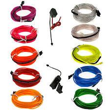 LED EL filo tubo corda flessibile Neon Glow auto partito Decor Light +regolatore