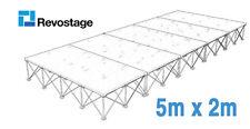 Revostage - Die leichtesten Bühnenpodeste auf dem Markt- 5x2 m Komplettbühne