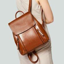 Women Split Cow Leather Backpack Shoulder Bag Messenger Handbag Travel 3USE