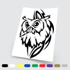 Adesivi in vinile Wall Stickers Prespaziati Gufo owl tribal Auto Notebook Parete