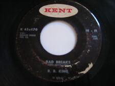 B B King Bad Breaks / Growing Old 1967 45rpm
