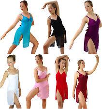 White Burg Red Black Purp Pink Blue Modern Lyrical Dance Costume 6 8 10 12 14 16
