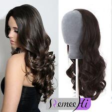 3/4 Half wigs 100% remy human hair half wig body wave hair weft cap