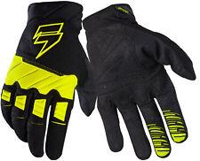 Shift Racing Flo Yellow/Black White Label Pro Dirt Bike Gloves MX ATV BMX MTB