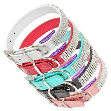 Posh Petz ® la marca de lujo Cristal Strass Collar De Perro Con Diamante Hebilla