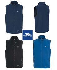 Mens TRESPASS Othos Fleece Gilet - Bodywarmer Jacket Sleeveless Full Zip - Blue
