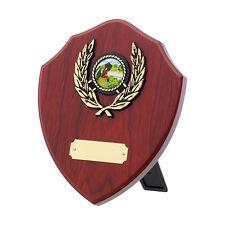 Multi sport wooden plaque award equestrian, golf, ten-pin bowling FREE Engraving
