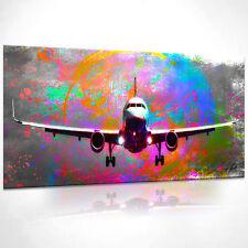 Flugzeug Reisen Bild Leinwand Abstrakte Bilder Wandbilder Kunstdruck D1264
