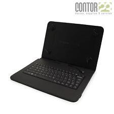 Universal Tablet Schutzhülle + USB-Tastatur [9-10 Zoll Tasche/Hülle/Case QWERTZ]