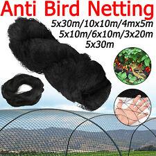 7 Sizes Commercial Fruit Veg Plant Knitted Anti Bird Netting Pest Net Mesh 5-30M