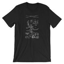 Dentists Chair Patent T-Shirt. Dental Shirt 100% Soft Cotton Tee on Black