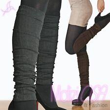Collant Scaldamuscoli donna calze costine Elasticizzato 200 Den Calzamaglia