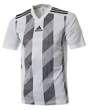 Adidas Youth STRIPE 19 Tee Shirt Running Training White Kid Top Jersey DU4398