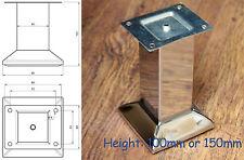 4x chrome poli acier meuble pieds / PIEDS Divan Plinthe placard placards nb149
