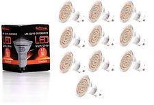 10X GU10 LED Lampe von Seitronic mit 3,5 Watt, 300LM und 60 LEDs Warm weiß 2900K