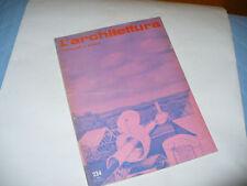 BRUNO ZEVI L'ARCHITETTURA CRONACHE E STORIA N.234 1974