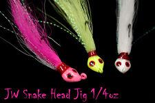 Jigging World Bucktail Snake Head Jig FREE SHIPPING in the US