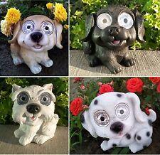 Garden Decor Solar Dog Puppy Figurine Statue Light Labrador Dalmatian Terrier