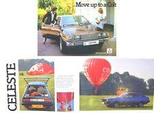 Mitsubishi Colt 1400 Lancer Celeste Sapporo Sigma 1980-81 Original UK Brochure