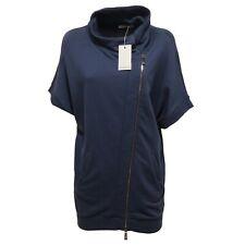 3234Q felpa donna PINKO ATENA blu manica corta sweatshirt short sleeve woman