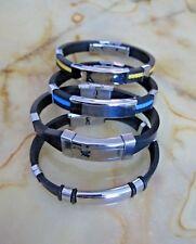 Men's Various Silicone  Rubber Wrist Bracelets  Band  Surfer.