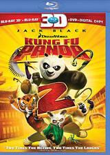 Kung Fu Panda 2 in 3D (Blu-ray/DVD, 3-Disc Set, 3D/2D) Jack Black animated film.