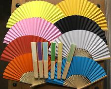 "A Plain Paper Folding Fan, Many Colours, 20.5Cm/8.2"""