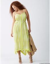 LANE BRYANT ~ NWT NEW! Plus 22 24 26 28 ~ Striped Belted Scarf Hem Maxi Dress 3X