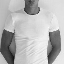 T-shirt uomo Enrico Coveri con collo V in fresco cotone Calibrata art ET1101 EXT