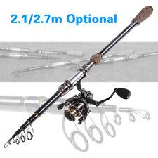 2.1/2.7m Telescopic Sea Fishing Rod Carbon Fiber Lure Spinning Pole Saltwater