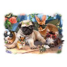Summer Break Pug and Friends Dog  Tshirt   Sizes/Colors