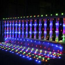 Solar Powered 100/204Led Net Light Mesh Fairy String Outdoor Waterproof 8Modes