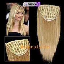 3/4 Half wig 100% indian remy human hair half wig Long straight hair weft cap