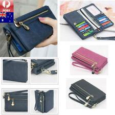 Long Travel Women Lady Purse Wallet Zip Card Phone Holders Double Handbag Case