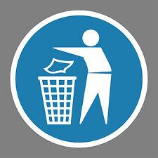 Abfallbehälter_benutzen Aufkleber Sticker Schild Hinweis Verbotsschild