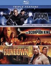 Dwayne Johnson Triple Feature The Scorpion King / The Rundown / Doom [Blu-ray]