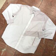 e1c488aa Men's Pelle Pelle White | Pink Long Sleeve Button Down Shirt