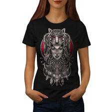 Girl Tiger Head Fantasy Women T-shirt NEW | Wellcoda