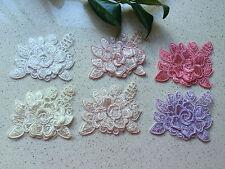 Lace Flower Applique Sewing Craft  8x6.5cm  Width