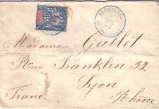 MADAGASCAR - FARAFANGANA 5-12-1902 EN BLEU/15c GROUPE