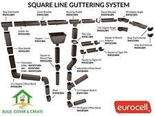 Square Line UPVC Gutter System Marshall Tufflex Drains Rainwater Conservatory