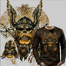 Edad Media VIKINGO ODIN gothic thor martillo de Thor Warrior Camiseta 4205 LS BR
