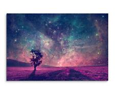 Leinwandbild Baum unter Sternenhimmel