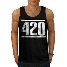 Tiempo Para Weed símbolo Men Camiseta sin mangas Nuevo | wellcoda