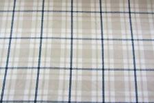 Aoste Check Cotton Curtain/Craft Fabric Blue