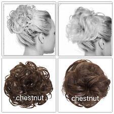 Koko cheveux scrunchie Marron # 8 extra extra large 4 Bun updo ondulés bouclés