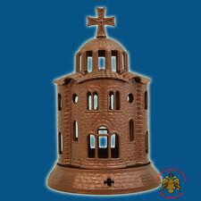 Orthodox Church Design Aluminum Vigil Oil Candle 12x18cm Made in Greece