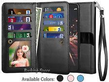 LG Stylo 3 / Stylus 3 Plus Luxury PU Leather Wallet Case Card Holder Flip Cover