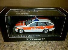 Minichamps Mercedes C Class T Model Notarzt 1:43 New Item**Discontinued...